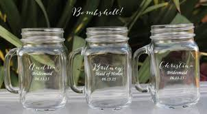 personalized drinking glasses. Wonderful Drinking 12 Groomsmen Gifts Wedding Party Drinking Glasses  Favor  Bridesmaid Gift Personalized Mugs With Handle Mason Jars Bulk To T