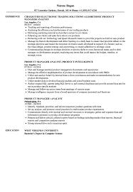 Product Manager Analyst Resume Samples Velvet Jobs