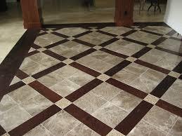 tile and wood basket weave flooring