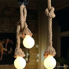 pendant rope light retro rope hanging lamps loft vintage pendant lamp restaurant bedroom pendant lamp hand pendant rope light