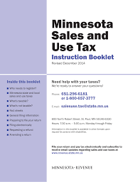 Minnesota Sales And Use Tax Minnesota Department Of