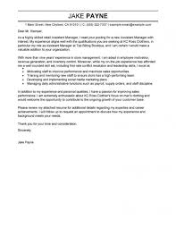 Resume Retail Assistant Manager Cover Letter Best Inspiration For