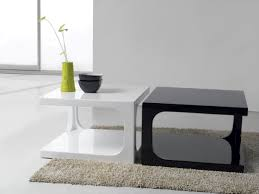 small coffee table. Combine Black And White Small Coffee Table For Modern Sitting Room With Grey Carpet Rug