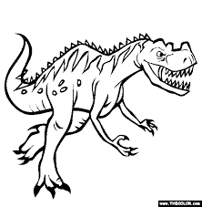 Coloring pages are a great way to relive stress both for little ones and ourselves! Dinosaur Online Coloring Pages