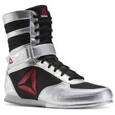 reebok boxing boots. reebok - boxing boot pat silver metallic / black white bd1346 boots e