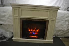 hampton bay granville 43 in convertible electric fireplace in antique white
