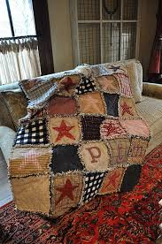 14 best americana quilts images on Pinterest   Quilt patterns ... & Flannel rag quilt with stars and initials of a boy I know.this quilt is  wonderful for either girl or boy.just change a few of the colors but keep  it rustic ... Adamdwight.com