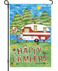 camping garden flag. Beautiful Camping Image Is Loading HappyCampersWildernessCampingFunGardenFlagPremier For Camping Garden Flag C