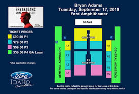 Seating Chart Ford Idaho Center Events Bryan Adams Shine A Light Tour Ford Idaho Center