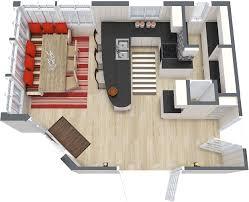 roomsketcher 3d floor plan of eat in kitchen layout