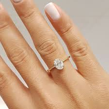 Oval Shaped Diamond Ring Design Details About 0 8 Carat Oval Shape D Si1 Solitaire Diamond Gia Engagement Ring Custom Size