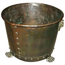 fireplace bucket fireplace ash bucket copper fireplace bucket copper and brass log holder for copper