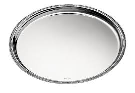 large round tray in silver plated christofle