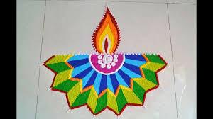 Easy Diya Rangoli Designs For Diwali Easy And Beautiful Diya Rangoli Geometrical Diya Rangoli