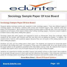 Sociology Sample Paper Of Icse Board By Deepak Sharma Issuu