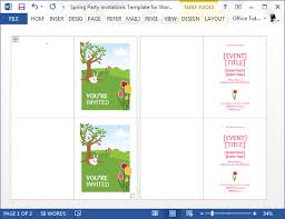 Birthday Party Invitation Template Word Free Free Party Invitation Templates Microsoft Word Idea Birthday Party