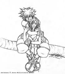Small Picture KHII Sora and Kairi lineart by Leafy chan on DeviantArt