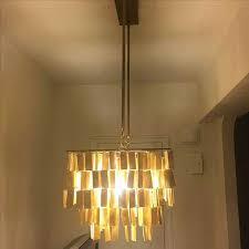 west elm capiz chandelier lovely west elm hanging capiz gold chandelier chairish