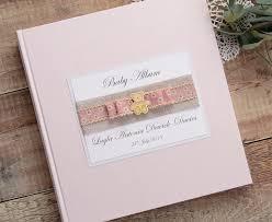 Baby Photo Album Book Personalised Baby Photo Album Teddy Daisy Print Ribbon Medium