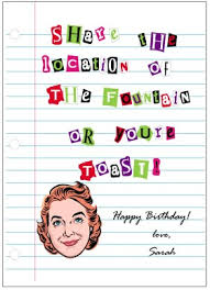 Funny Birthday Card Printables Printable Fountain Of Youth Birthday Card Template