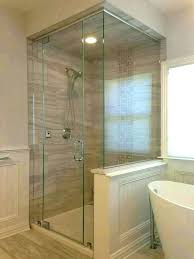 knee wall door shower with fixed panel side photo of united states construction home depot access