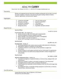 Sensational Security Supervisor Resume Templates Guard Cv Format