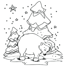 Coloring Pages Clothes For Winter Polar Bear Coloring Pages ...