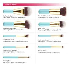 names middot zoreya 9pcs high quality goat hair makeup brush set kmes brand kit with all