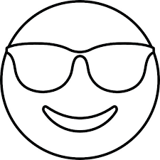 coloring pages printable emoji coloring pages smiling face with sunglasses e free emoji