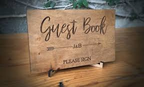 Wedding Guest Book Wedding Guest Book Classic Sign