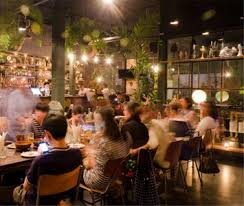 busy restaurant scene. Hotel Location 14/29 Soi Sukhumvit 45, Road, Bangkok. Restaurant Busy Scene