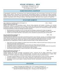 Human Resources Generalist Resume Example Samples Entry Level Hr