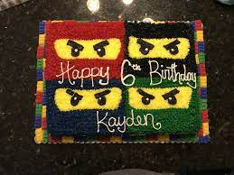 lego ninjago birthday cake with traditional frosting and legos made out of  fondant. | Lego ninjago birthday, Ninjago birthday, Ninjago birthday party