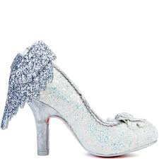 Light Blue Glitter Heels Irregular Choice Icarus Womens Light Blue White High Heel