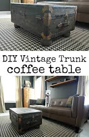 Vintage Trunk Turned Coffee Table
