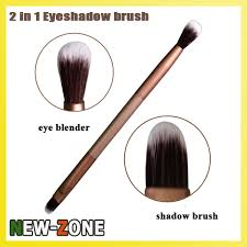 le golden color 2 in 1 eye shadow brush eye makeup blender super fine soft contour brush cosmetic tool in eye shadow applicator from beauty health on
