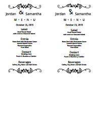 Wedding Menu Template Free Download Edit Fill Create And Print