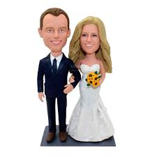 Custom Beautiful Wedding Cake Toppers Bride And Groom From Photos