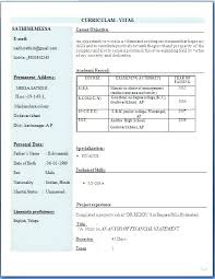 Sample Resume Pdf Resume B Com Resume Sample Fresher Resume Format