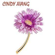<b>CINDY XIANG</b> Enamel <b>Daisy</b> Pins Summer Fashion Brooch Women ...