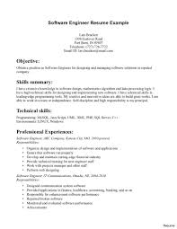 Entry Level Software Engineer Resume Cosy Sample Software Developer Resume With Entry Level Of Engineer 15