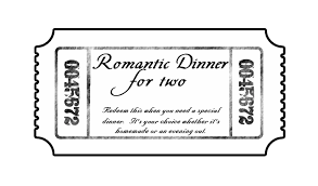 date night invitation template dinner ticket templates cloudinvitation com