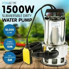 garden water sump pump tanks for