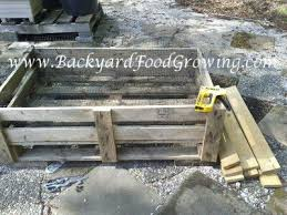 how to build a raised bed on a pallet