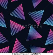 80s Pattern Mesmerizing Vector 48s Retro Style Seamless Pattern Fashion Background