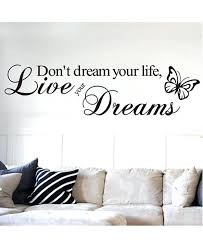 dream wall decor dream your life live your dreams wall stickers home decor bedroom home decoration