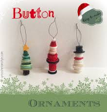 Easy Christmas Crafts Easy Christmas Crafts 8 Button Ornaments Speech Room Style