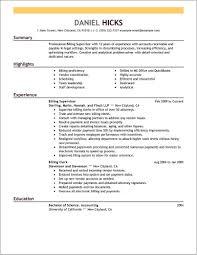 Medical Billing Objective For Resume Medical Billing Resume Examples Medical Billing And Coding Resume 9