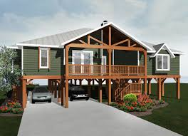 Elevated Cabin Cottage 59953ND Architectural Designs House Plans Elevated Home Plans