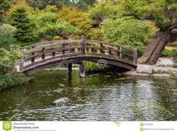 Japanese Style Garden Bridges Japanese Tea Garden Bridge And Pond Stock Photo Image 61859628